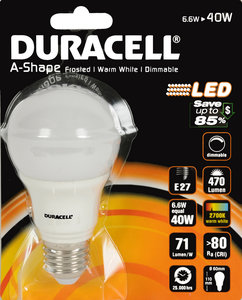 Duracell Led-lamp Dimbaar (6,6 Watt)